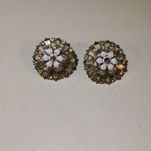 J. Crew Flower Crystal Statement Earrings